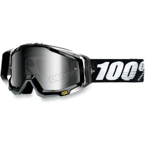 100% Black Racecraft Abyss Goggles  - 50110-001-02