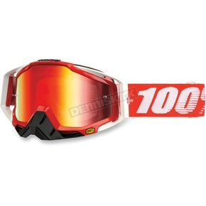 100% Red Racecraft Fire Goggles  - 50110-003-02