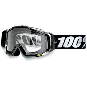 100% Black Racecraft Abyss Goggles  - 50100-001-02