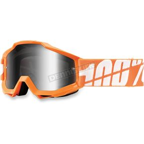 100% Orange Youth Accuri Caltrans Goggles  - 50310-054-02