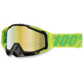 100% Yellow/Green Racecraft Sour Patch Goggle w/Mirror Gold Lens - 50110-112-02