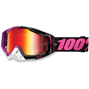100% Black/Purple/Pink Racecraft Haribo Goggle w/Mirror Red Lens - 50110-117-02
