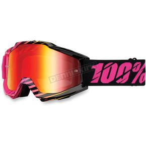 100% Black/Pink Accuri Canaveral Goggle w/Mirror Red Lens - 50210-113-02