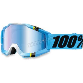 100% Blue/Black Accuri Crystal Goggle w/Mirror Blue Lens - 50210-122-02