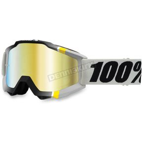 100% Gray/Black/Yellow Accuri Primer Crystal Goggle w/Mirror Gold Lens - 50210-123-02