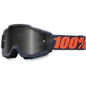 100% Gray/Orange Accuri Sand Gunmetal Goggle w/Dark Smoke Lens - 50201-025-02