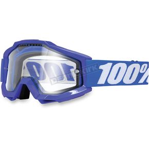 100% Blue/White Accuri Enduro Reflex Blue Goggle w/Clear Lens - 50202-002-02