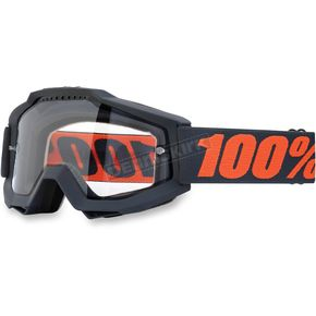 100% Gray/Orange Accuri Enduro Gunmetal Goggle w/Clear Lens - 50202-025-02