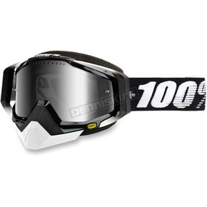 100% Black Racecraft Snow Abyss Black Goggle w/Mirror Silver Lens - 50113-001-02