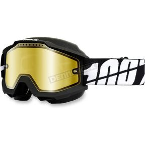 100% Black Accuri Snow Goggle w/Dual Mirror Gold Lens - 50213-061-02