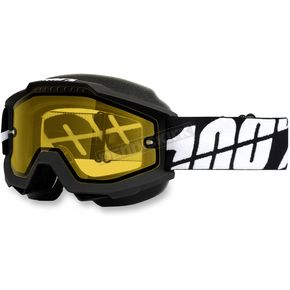 100% Black Accuri Snow Goggle w/Yellow Lens - 50203-061-02