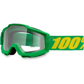 100% Accuri Federal Goggle w/Clear Red Lens - 50200-134-02