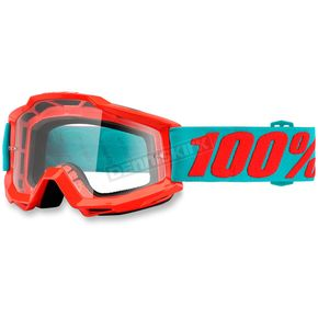 100% Accuri Passion Orange Goggles w/Clear Lens - 50200-197-02