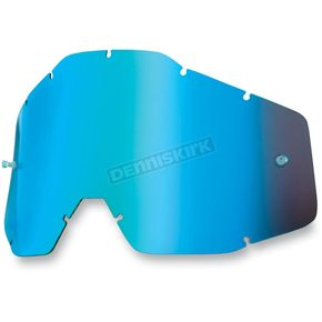 100% Blue Mirror Racecraft/Accuri/Strata Replacement Lens - 51002-002-02
