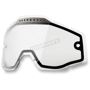 100% Clear Dual Vented Replacement Lens for Racecraft/Accuri/Strata Snow Goggles - 51006-010-02