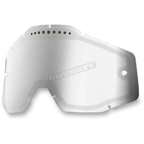 100% Mirror Silver Dual Vented Replacement Lens for Racecraft/Accuri/Strata Snow Goggles - 51006-008-02