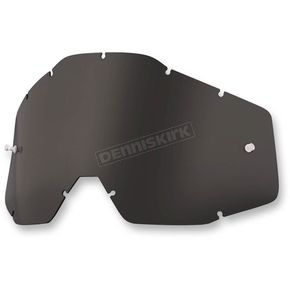 100% Dark Smoke Replacement Lens for Racecraft/Accuri/Strata Goggles - 51001-018-02