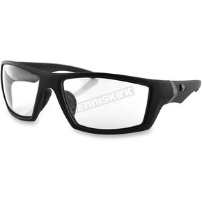 Bobster Matte Black/Clear Whiskey Ballistics Sunglasses - EWH1002C