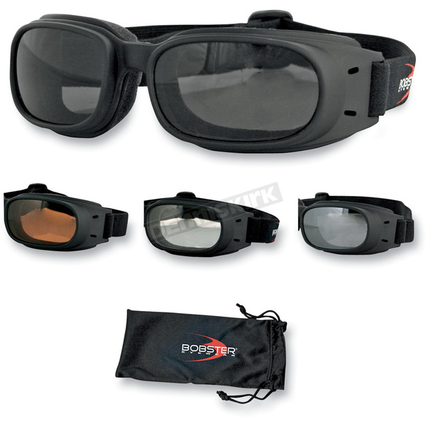Bobster Piston Goggles w/Smoke Lens - BPIS01