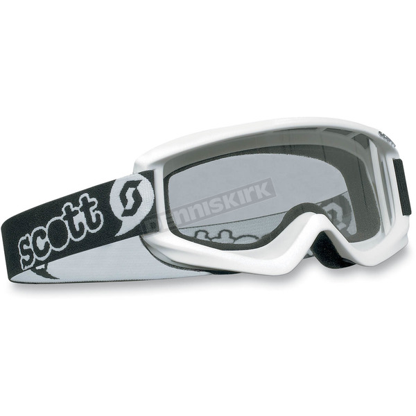 Scott Youth White Agent Goggles w/Clear Standard Lens  - 221333-0002041