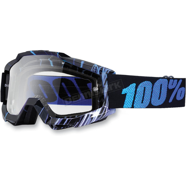 100% Blue Weld Accuri Motocross Goggles w/Clear Lens - 50200-031-02