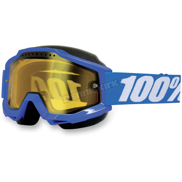 100% Accuri Snow Goggles w/Dual Yellow Lens - 50203-002-02