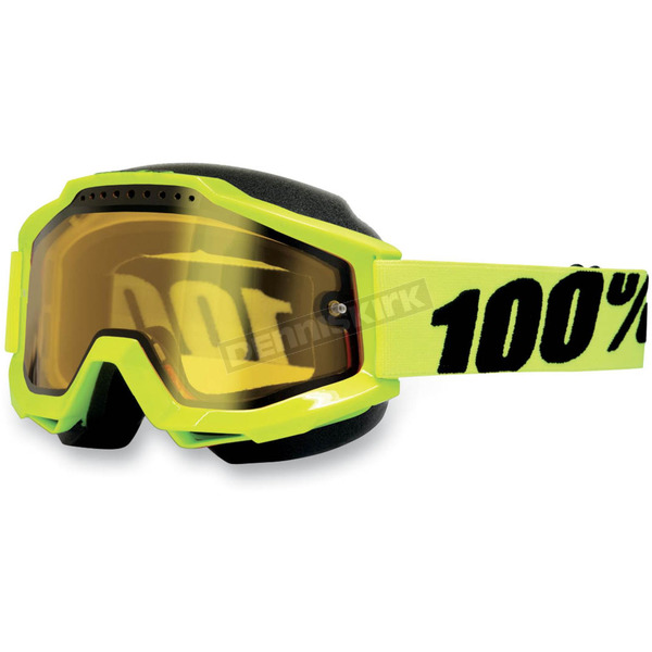 100% Accuri Snow Goggles w/Dual Yellow Lens - 50203-004-02