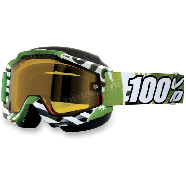 100% Accuri Snow Goggles w/Dual Yellow Lens - 50203-039-02