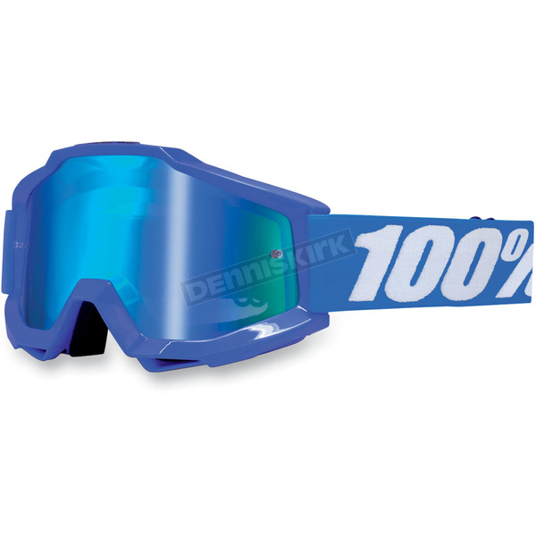 100% Blue Accuri Goggles w/Mirror Lens  - 50210-002-02