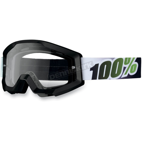 100% Black/Lime Strata Goggles  - 50400-027-02
