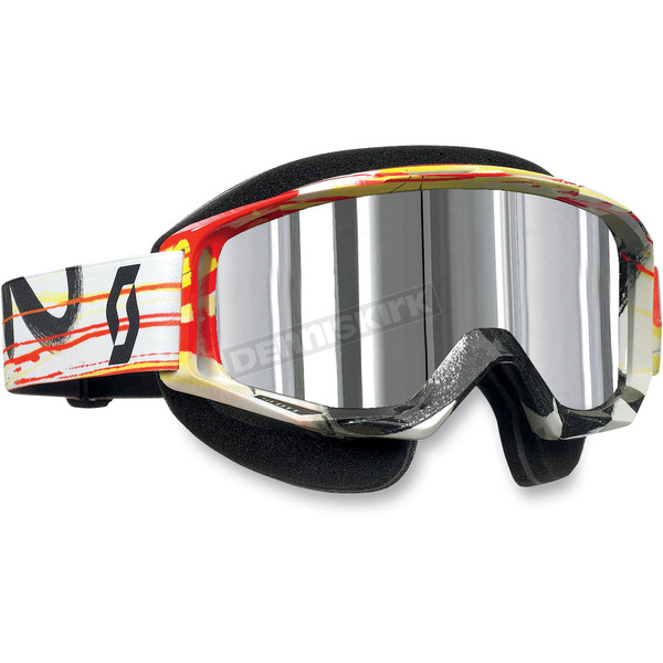 Scott Tyrant Snowcross Goggles w/ Thermal Silver Chrome Lens - 227389-3602015