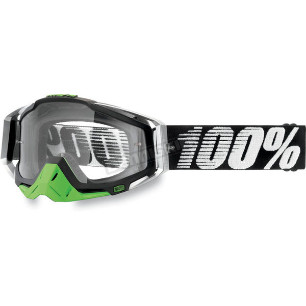 100% Metal-Lime Racecraft Goggles w/Clear Lens - 50100-027-01