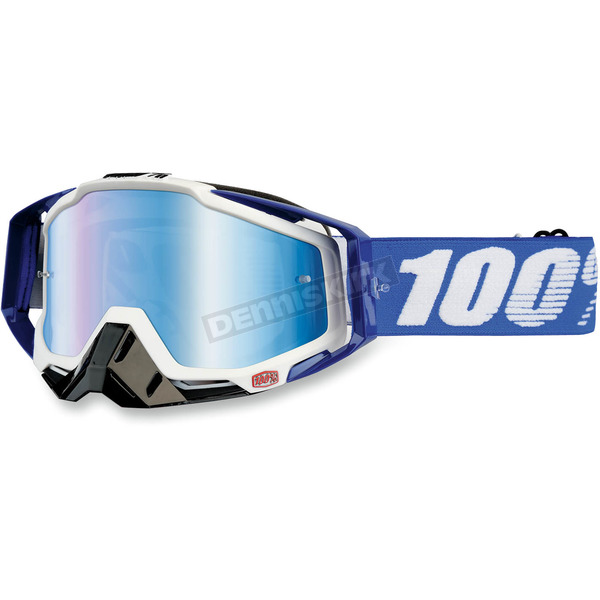100% Blue Racecraft Cobalt Goggles  - 50110-002-02