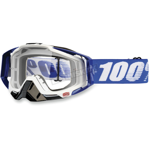 100% Blue Racecraft Cobalt Goggles  - 50100-002-02