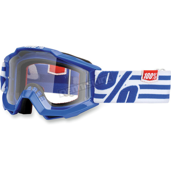 100% Blue Youth Accuri Nimitz Goggles  - 50300-062-02