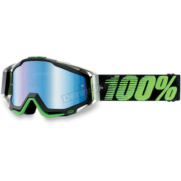 100% Lime Race Craft Goggles w/Clear Lens - 50100-027-02