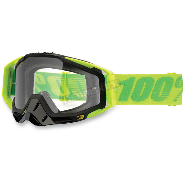 100% Yellow/Green Racecraft Sour Patch Goggle w/Clear Lens - 50100-112-02