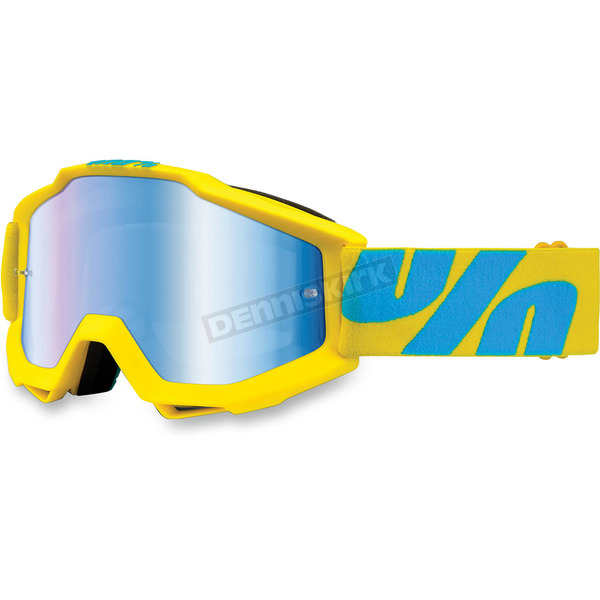 100% Yellow/Blue Accuri Fiji Goggle w/Mirror Blue Lens - 50210-105-02