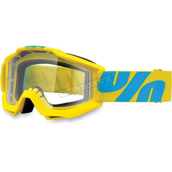 100% Yellow/Blue Accuri Fiji Goggle w/Clear Lens - 50200-105-02