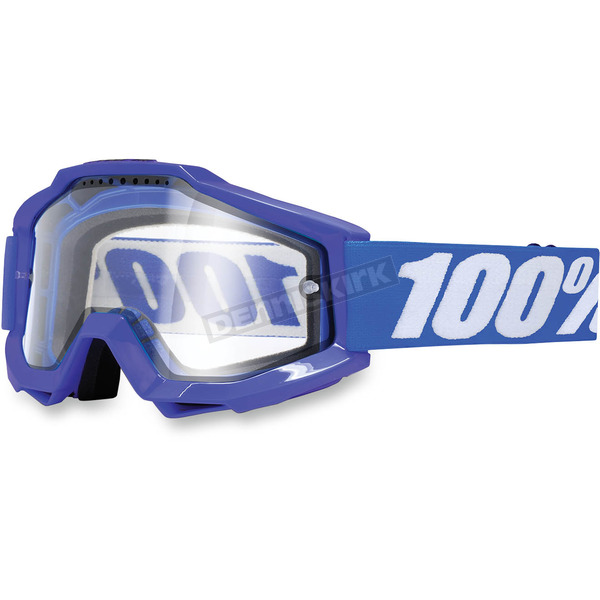 Blue/White Accuri Enduro Reflex Blue Goggle w/Clear Lens - 50202-002-02