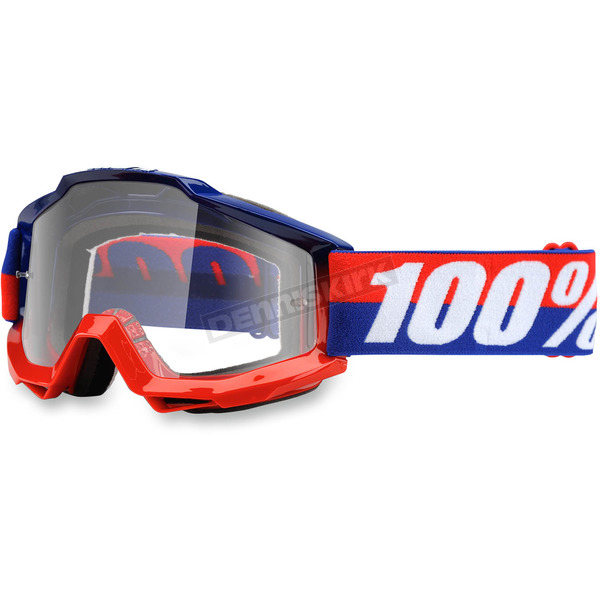 100% Accuri Federal Goggle w/Clear Red Lens - 50200-135-02