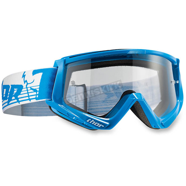 Thor Blue/White Conquer Goggles - 2601-1928