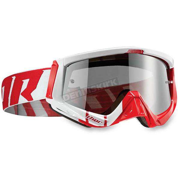 Thor Red/White Sniper Barred Goggles - 2601-1934