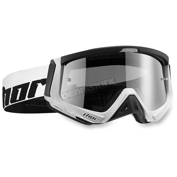 Thor White/Black Sniper Carbon Goggles - 2601-1941