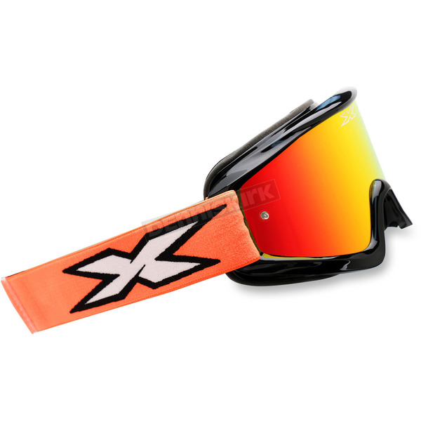 EKS Brand Fluorescent Orange/Black X-Fade Phantom Goggles - 067-10230