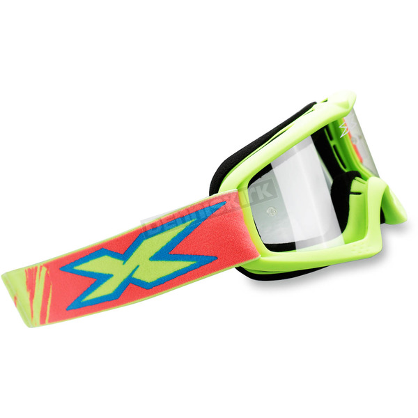 EKS Brand Youth Fluorescent Yellow X-Grom Goggles - 067-30160