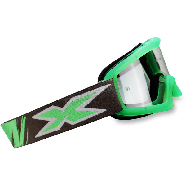 EKS Brand Youth Liquid Fluorescent Green X-Grom Goggles - 067-30170