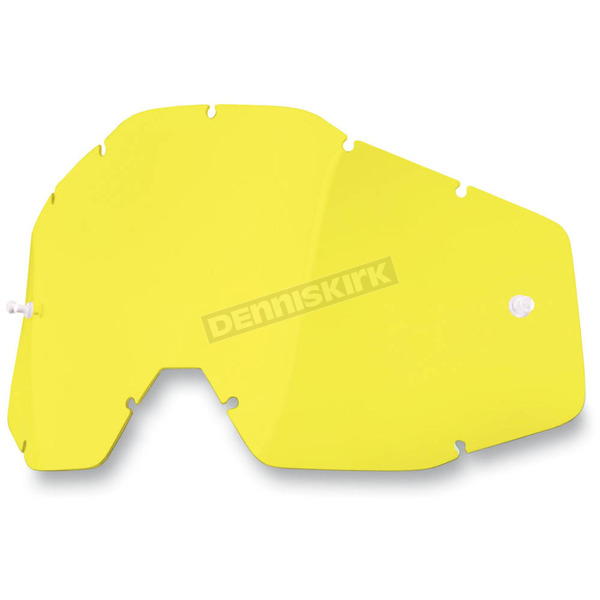 100% Yellow Racecraft/Accuri/Strata Replacement Lens - 51001-004-02