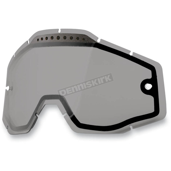 100% Smoke Dual Vented Replacement Lens for Racecraft/Accuri/Strata Snow Goggles - 51006-007-02