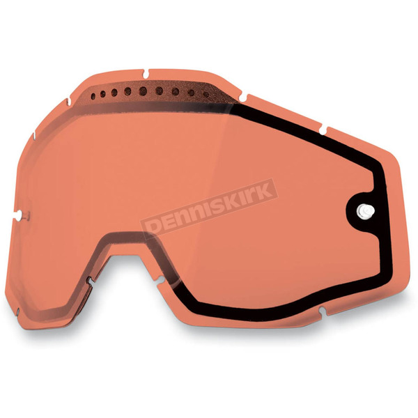 100% Rose Dual Vented Replacement Lens for Racecraft/Accuri/Strata Snow Goggles - 51006-016-02